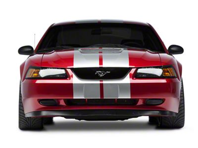 American Muscle Graphics Silver GT500 Style Stripes - 10 in. (94-04 All)