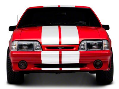American Muscle Graphics White GT500 Style Stripes - 10 in. (79-93 All)