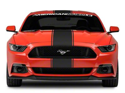 American Muscle Graphics Matte Black Super Snake Style Stripe Kit (15-19 All)