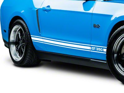 American Muscle Graphics White Rocker Stripes w/ GT350 (05-14 All)
