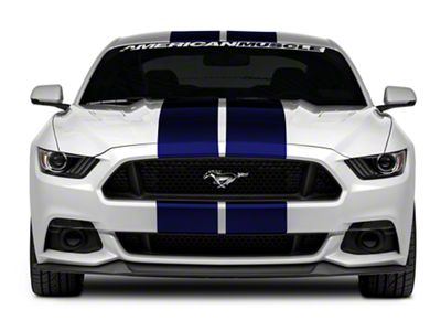 American Muscle Graphics Blue GT500 Style Stripes - 10 in. (15-19 All)