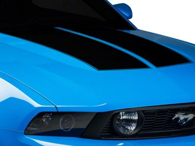 American Muscle Graphics Black Dual Hood Stripe (10-12 All)