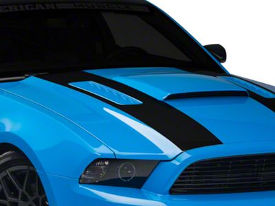 American Muscle Graphics Matte Black Inner Hood Stripes (13-14 All)