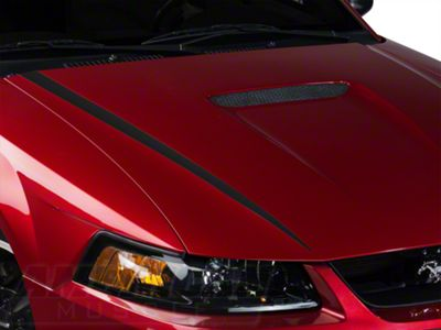 American Muscle Graphics Matte Black Hood Accent Decal (99-04 GT; 99-02 V6)
