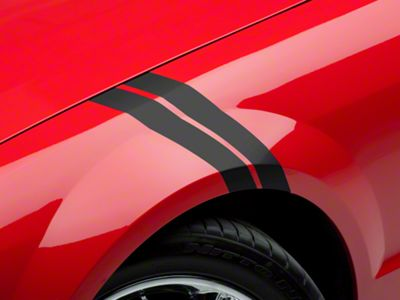 American Muscle Graphics Matte Black Hash Marks (05-14 All)
