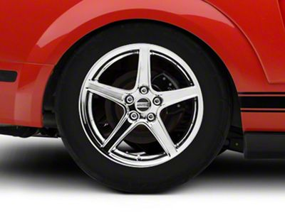 Saleen Style Chrome Wheel - 18x10 - Rear Only (05-14 GT, V6)