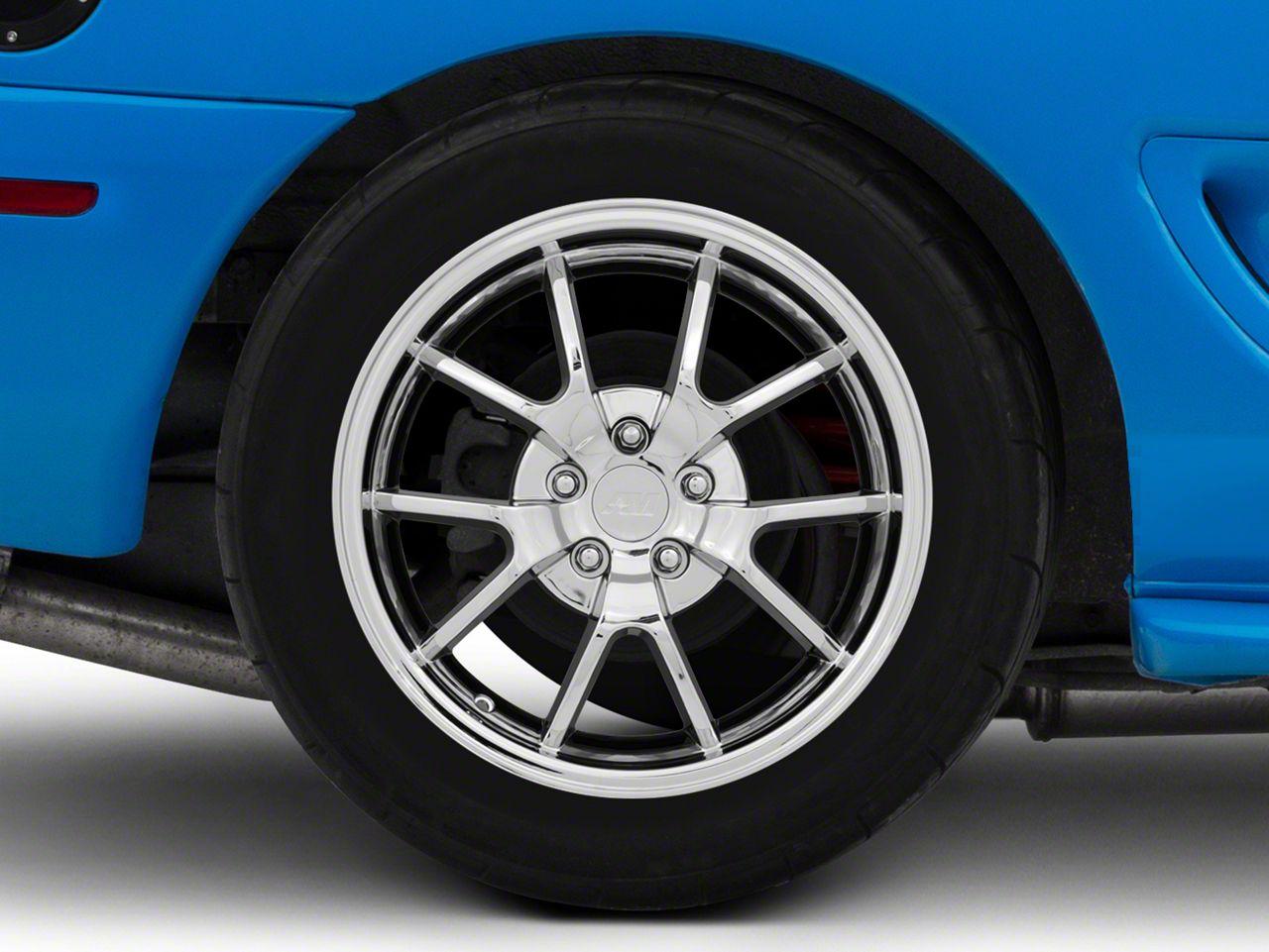 Deep Dish FR500 Style Chrome Wheel - 18x10 - Rear Only (94-04 All)