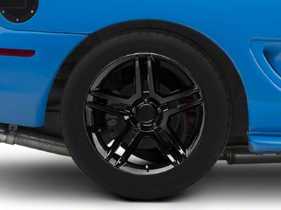2010 GT500 Style Black Wheel - 18x10 - Rear Only (94-04 All)