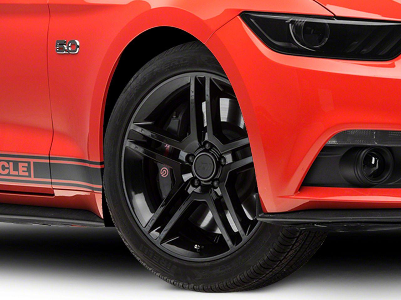 2010 GT500 Style Black Wheel - 19x8.5 (15-19 GT, EcoBoost, V6)