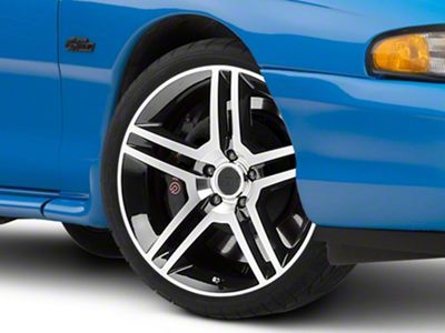 2010 GT500 Style Black Machined Wheel - 19x8.5 (94-04 All)