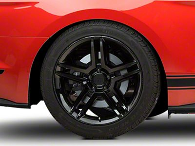 2010 GT500 Style Black Wheel - 19x10 - Rear Only (15-19 GT, EcoBoost, V6)