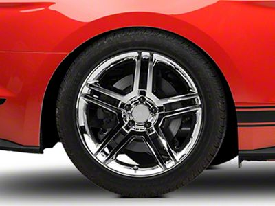 2010 GT500 Style Chrome Wheel - 19x10 - Rear Only (15-19 GT, EcoBoost, V6)