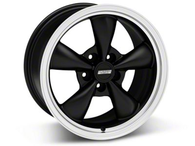 Bullitt Matte Black Wheel - 17x9 (87-93 w/ 5 Lug Conversion)