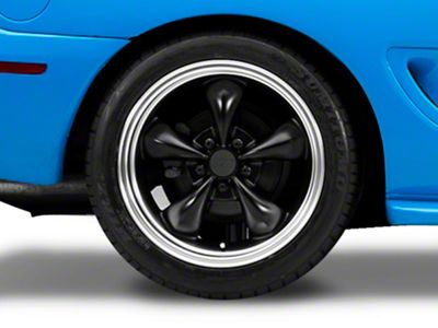 Bullitt Deep Dish Matte Black Wheel - 18x10 - Rear Only (94-04 All)