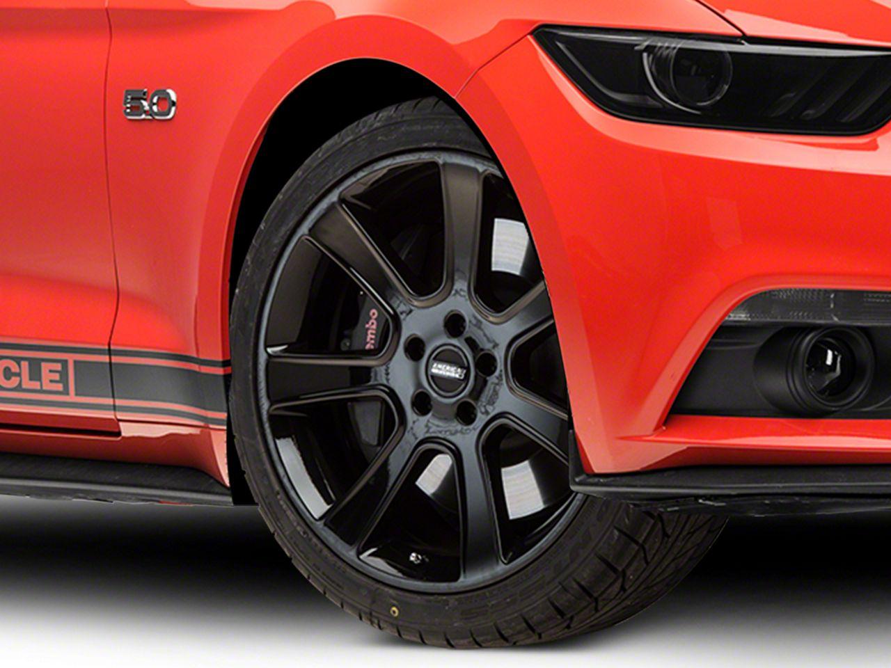 S197 Saleen Style Black Wheel - 20x9 (15-19 GT, EcoBoost, V6)