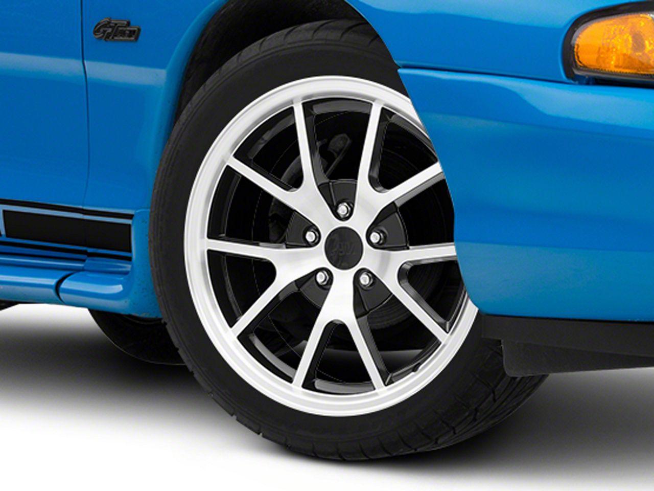 FR500 Style Black Machined Wheel - 18x9 (94-04 All)