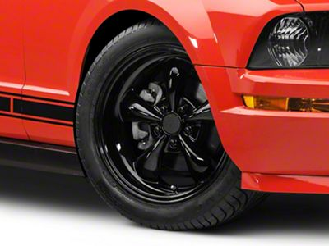 Deep Dish Bullitt Solid Gloss Black Wheel - 18x9 (05-10 GT; 05-14 V6)