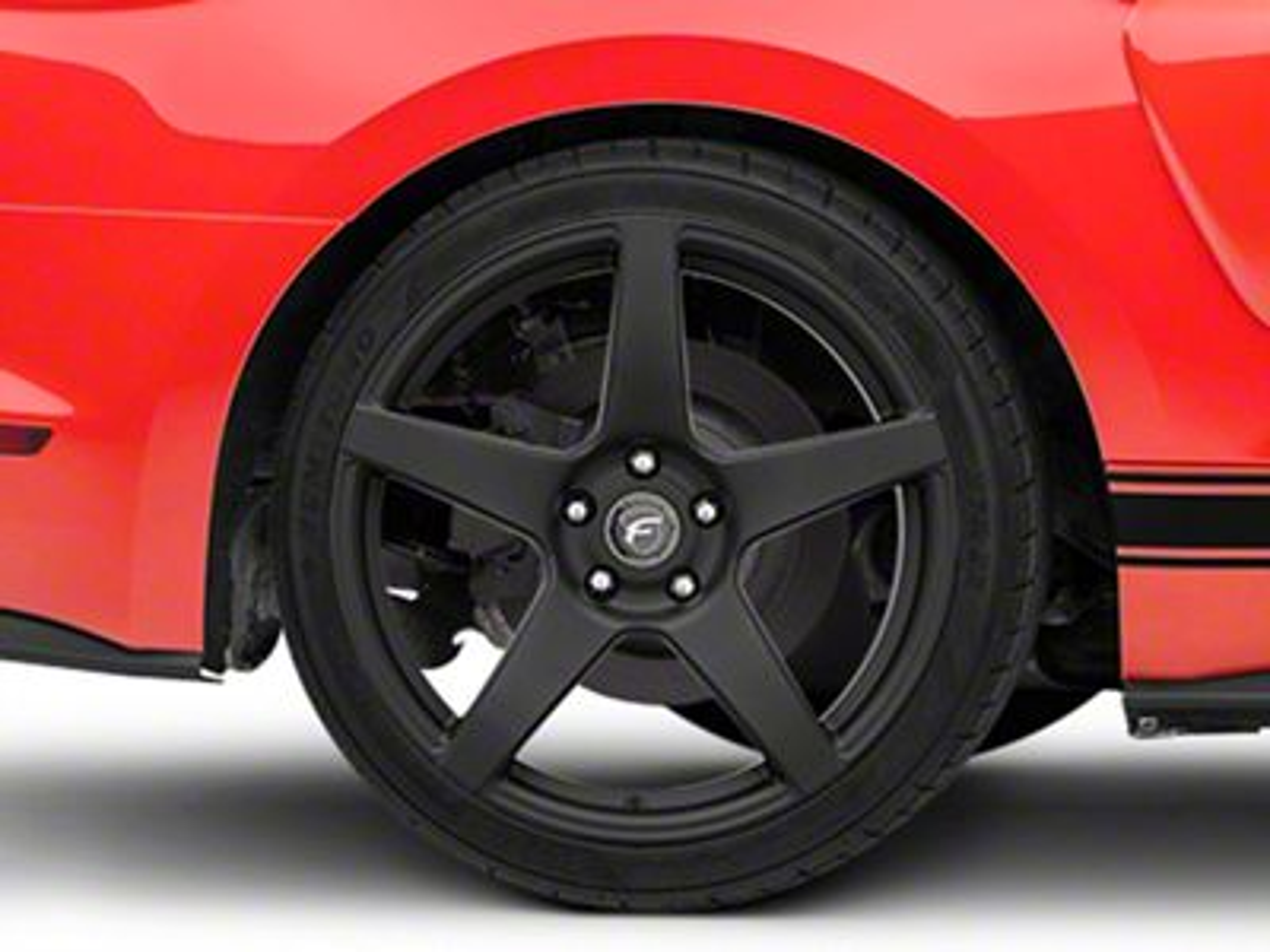 Forgestar CF5 Monoblock Matte Black Wheel - 19x10 (15-19 GT, EcoBoost, V6)