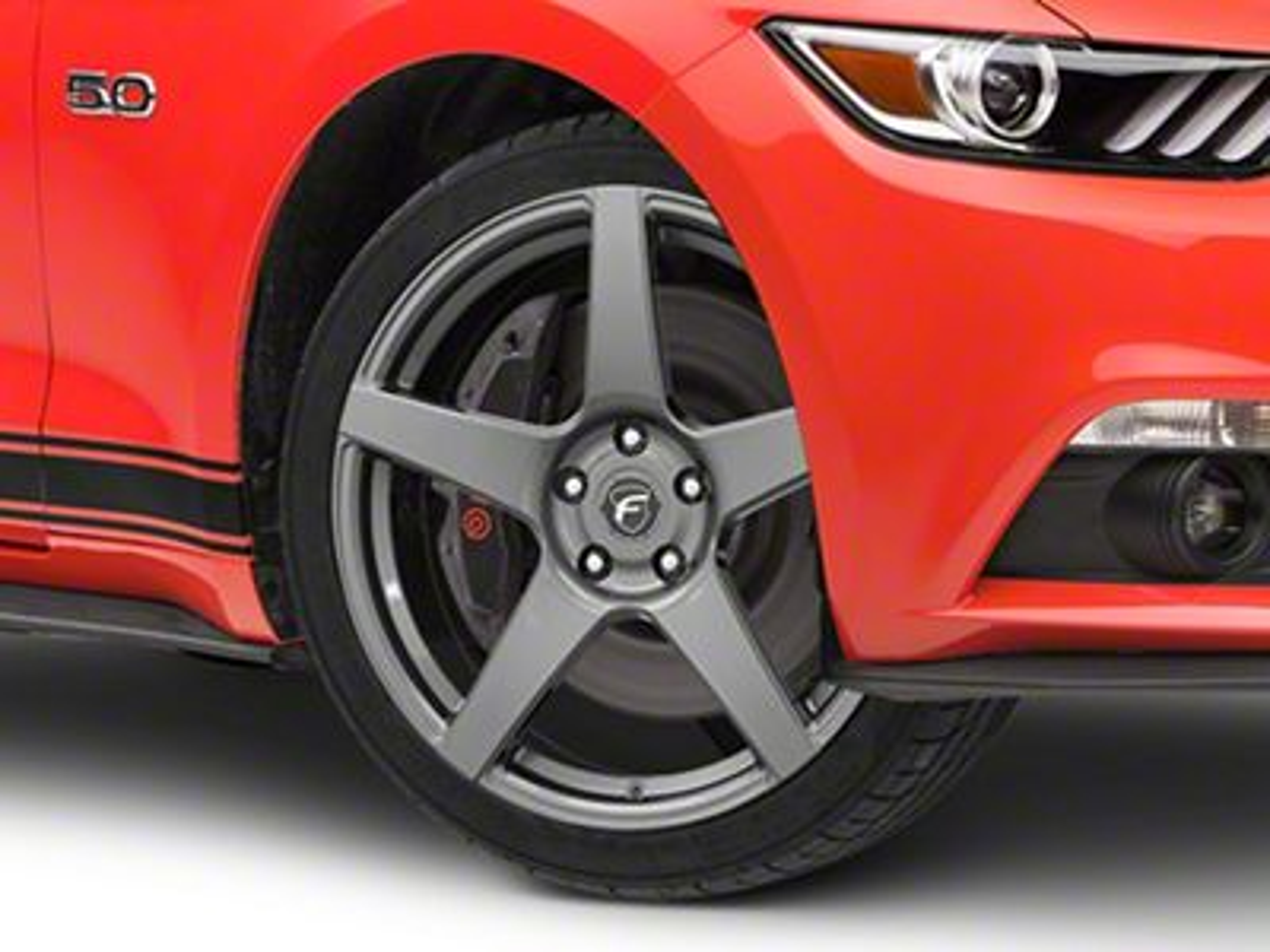 Forgestar CF5 Monoblock Gunmetal Wheel - 19x9 (15-19 GT, EcoBoost, V6)