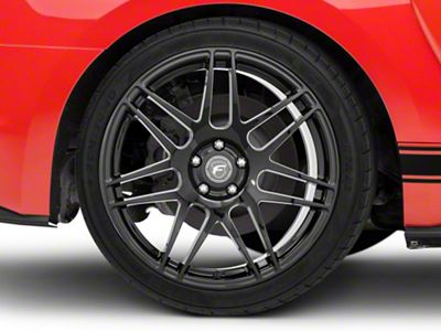 Forgestar F14 Monoblock Deep Concave Monoblock Piano Black Wheel - 20x11 - Rear Only (15-19 GT, EcoBoost, V6)