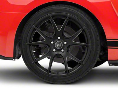 Forgestar CF5V Monoblock Matte Black Wheel - 19x10 - Rear Only (15-19 GT, EcoBoost, V6)