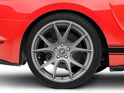Forgestar CF5V Monoblock Gunmetal Wheel - 19x10 - Rear Only (15-19 GT, EcoBoost, V6)