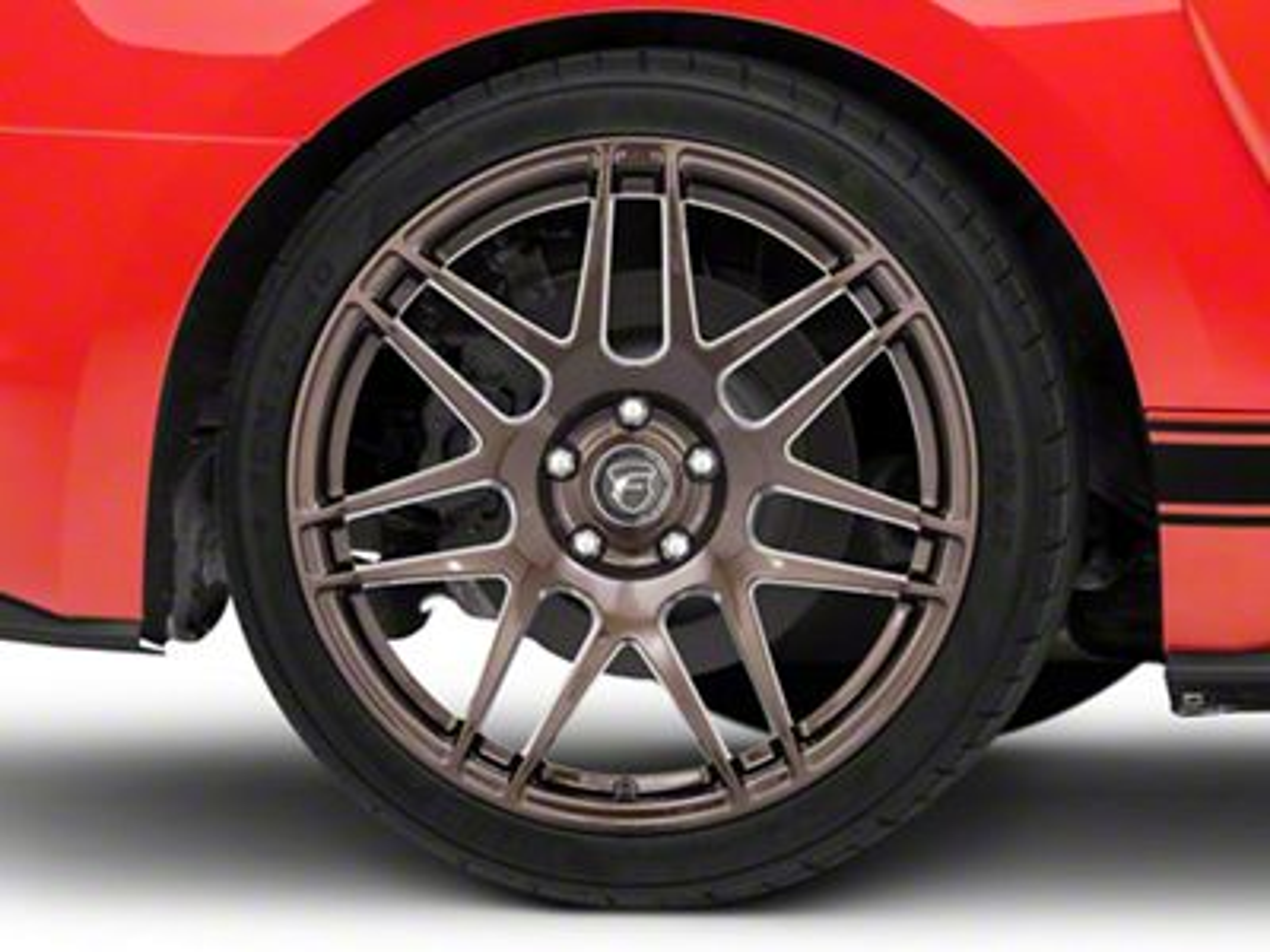 Forgestar F14 Monoblock Bronze Burst Wheel - 19x11 - Rear Only (15-19 GT, EcoBoost, V6)
