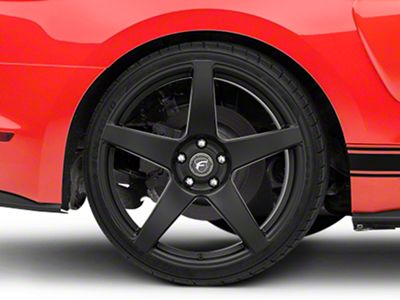 Forgestar CF5 Monoblock Matte Black Wheel - 20x11 - Rear Only (15-19 GT, EcoBoost, V6)