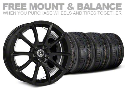 Shelby Super Snake Style Black Wheel & NITTO INVO Tire Kit - 20x9 (05-14 All)