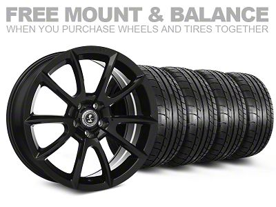 Shelby Super Snake Style Black Wheel & Mickey Thompson Tire Kit - 20x9 (05-14 All)