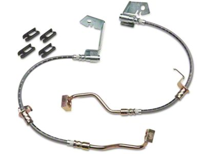 J&M Stainless Steel Teflon Brake Hoses - Front (05-14 w/ ABS, Excluding 13-14 GT500)