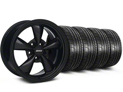 Staggered Bullitt All Black Wheel & Mickey Thompson Tire Kit - 17x9/10.5 (99-04 All)
