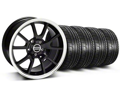 Staggered FR500 Style Black Wheel & Mickey Thompson Tire Kit - 17x9/10.5 (99-04 All)