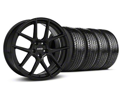 MMD Zeven Black Wheel & Pirelli Tire Kit - 19x8.5 (05-14 All)