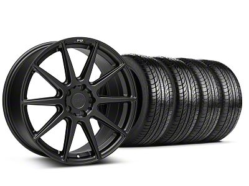 Niche Essen Matte Black Wheel & Pirelli Tire Kit - 19x8.5 (05-14 All)