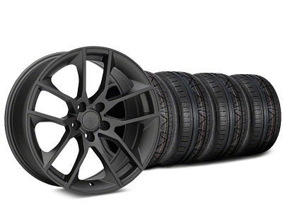 Magnetic Style Charcoal Wheel & NITTO INVO Tire Kit - 19x8.5 (05-14 GT, V6)