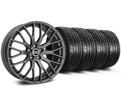 Performance Pack Style Charcoal Wheel & Mickey Thompson Tire Kit - 19x8.5 (05-14 GT, V6)