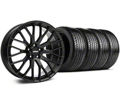 Staggered Performance Pack Style Black Wheel & Pirelli Tire Kit - 19x8.5 (05-14 All)