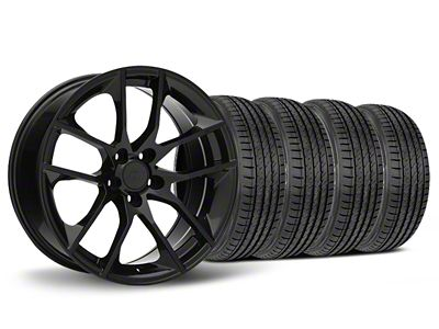 Staggered Magnetic Style Black Wheel & Sumitomo Tire Kit - 19x8.5/10 (05-14 All)