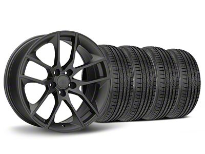 Staggered Magnetic Style Charcoal Wheel & Sumitomo Tire Kit - 19x8.5/10 (05-14 All)