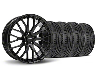 Staggered Performance Pack Style Black Wheel & Sumitomo Tire Kit - 19x8.5/10 (05-14 All)