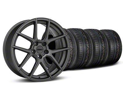 Staggered MMD Zeven Charcoal Wheel & NITTO INVO Tire Kit - 19x8.5/10 (05-14 All)
