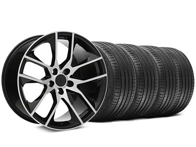 Staggered Magnetic Style Black Machined Wheel & Sumitomo Tire Kit - 20x8.5/10 (05-14 All)