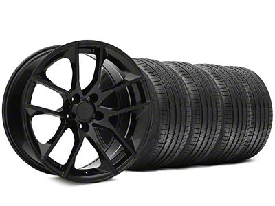 Staggered Magnetic Style Black Wheel & Sumitomo Tire Kit - 20x8.5/10 (05-14 All)