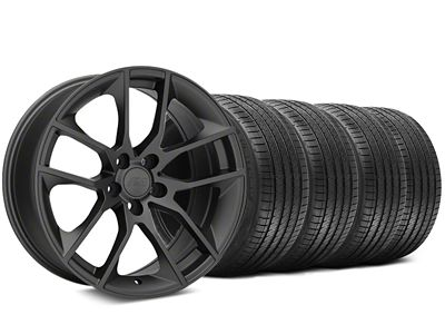 Staggered Magnetic Style Charcoal Wheel & Sumitomo Tire Kit - 20x8.5/10 (05-14 All)