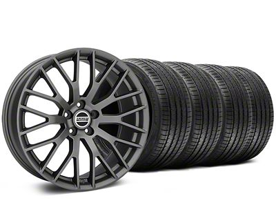 Staggered Performance Pack Style Charcoal Wheel & Sumitomo Tire Kit - 20x8.5/10 (05-14 All)