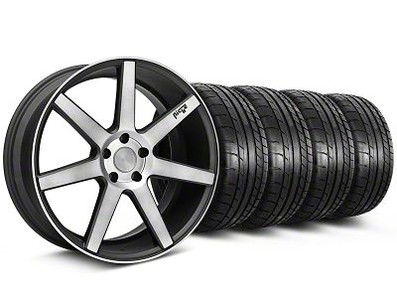 Staggered Niche Verona Black Double Dark Wheel & Mickey Thompson Tire Kit - 20x9/10 (05-14 All)