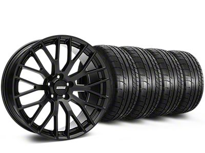 Staggered Performance Pack Style Black Wheel & Mickey Thompson Tire Kit - 20x8.5/10 (05-14 All)