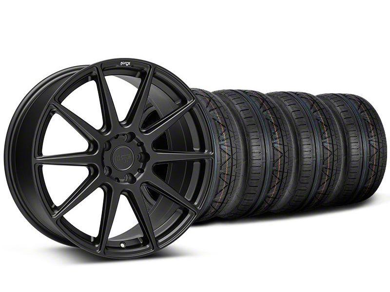 Staggered Niche Essen Matte Black Wheel & NITTO INVO Tire Kit - 20x9/10 (05-14 All)