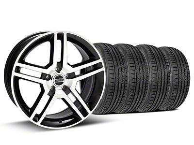 2010 GT500 Style Black Machined Wheel & Sumitomo Tire Kit - 19x8.5 (05-14 All)